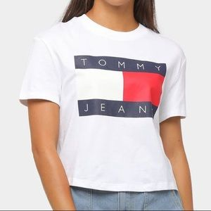 """TOMMY HILFIGER """"Tommy Jeans"""" White T-Shirt"""